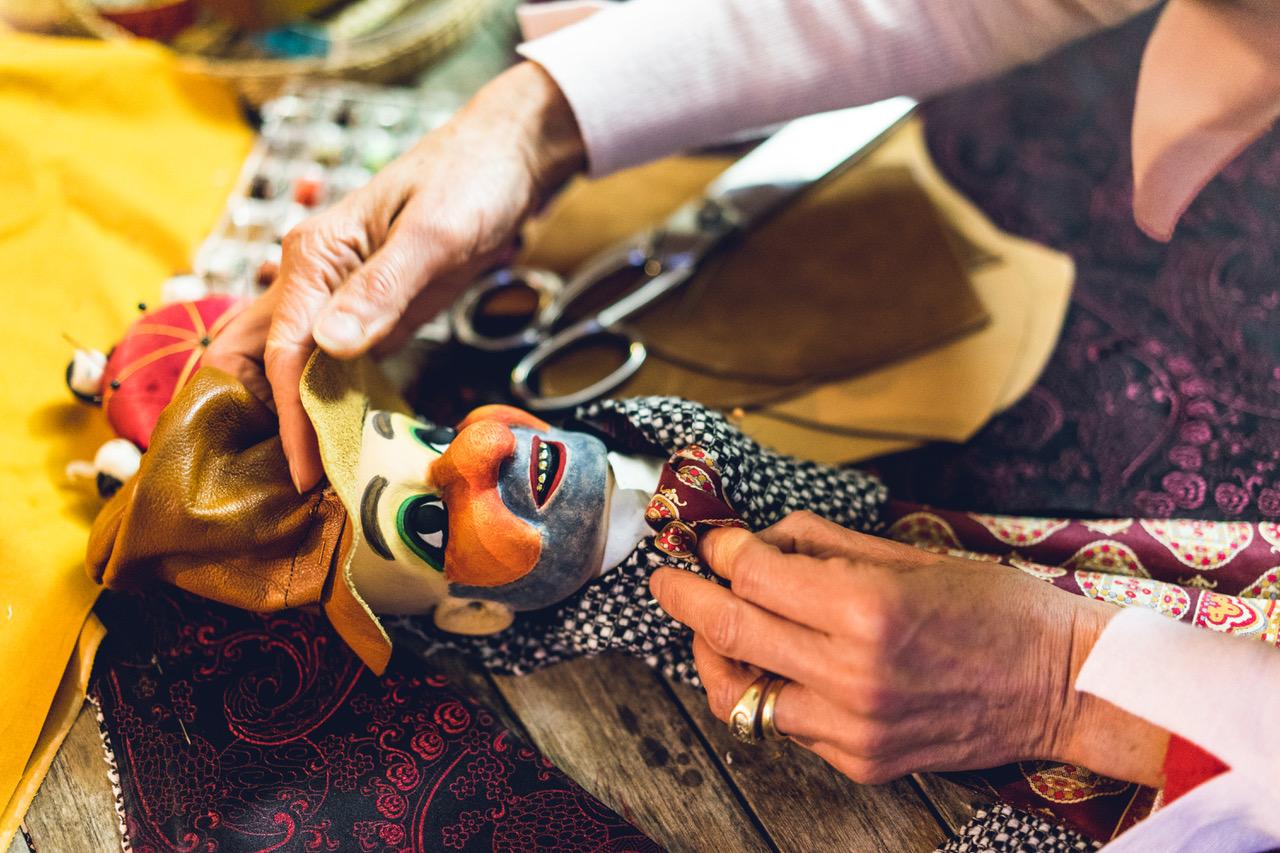 création marionnette bois gnafron
